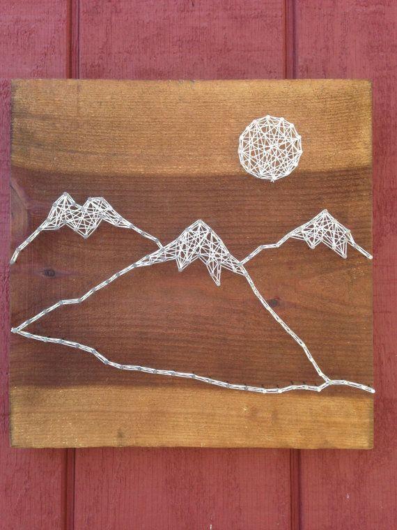 Mountain Range String Art - Moon - Rustic Nail Art ...