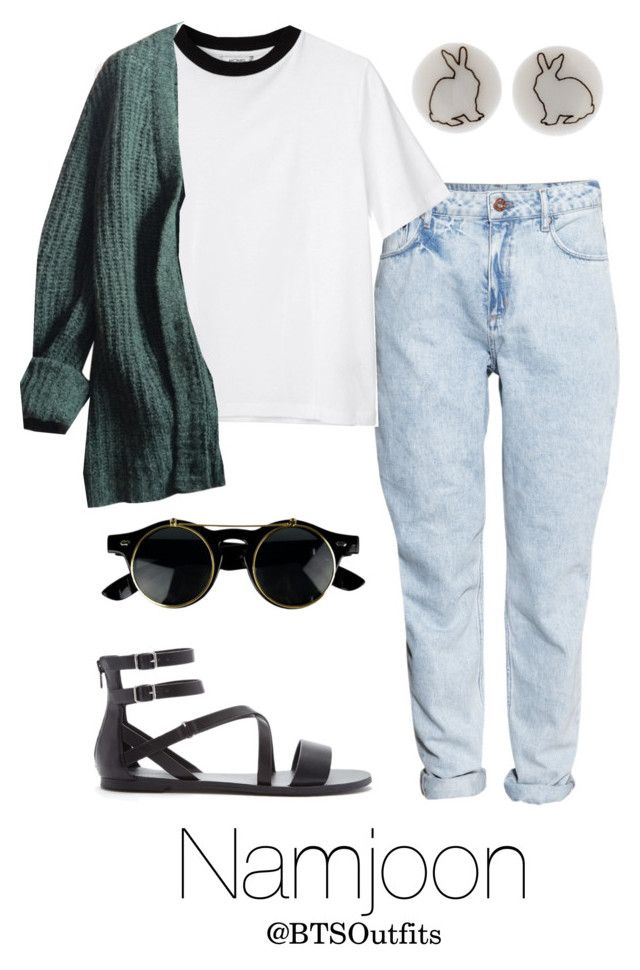"""""""Picnic Date with Namjoon"""" by btsoutfits ❤ liked on Polyvore featuring H&M, Monki, Prada and Forever 21"""