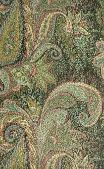 Silk and Wool Blend Metallic Crepe with Paisley Patterns