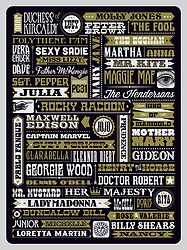 Beatle People Art Print. Typography art print featuring names of characters from songs by the Beatles. $40 from www.needsandwishesart.com