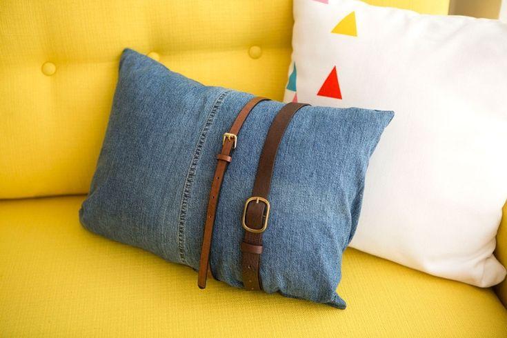 alte jeans verwerten idee-kissenhuelle-guertel-deko