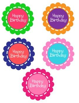 HAPPY BIRTHDAY STRAW/PENCIL TOPPERS - TeachersPayTeachers.com