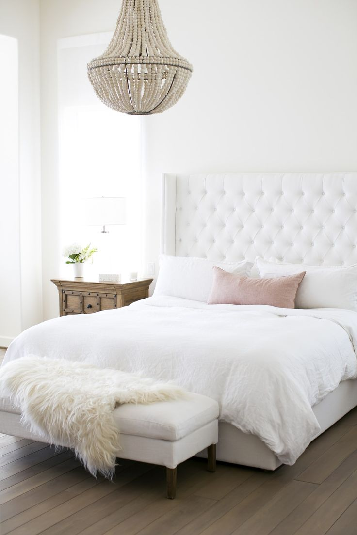 White bedding ideas - 5 Reasons Why You Need To Hang A Chandelier In Every Room