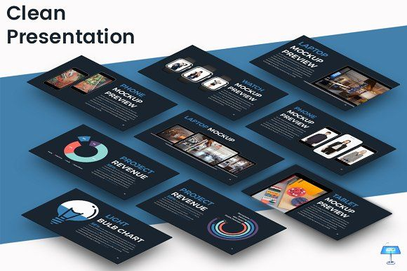 Clean - Keynote Template by inspirasign on @creativemarket