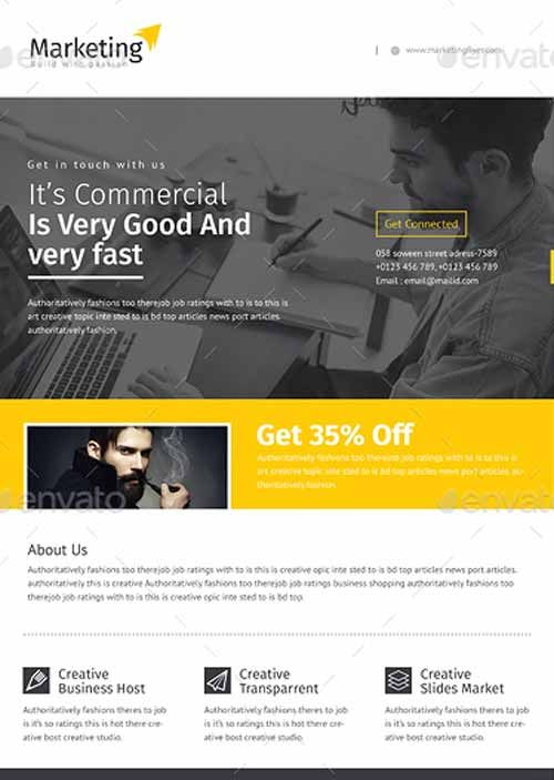 471 best Awesome Featured Flyer Templates images on Pinterest - corporate flyer template