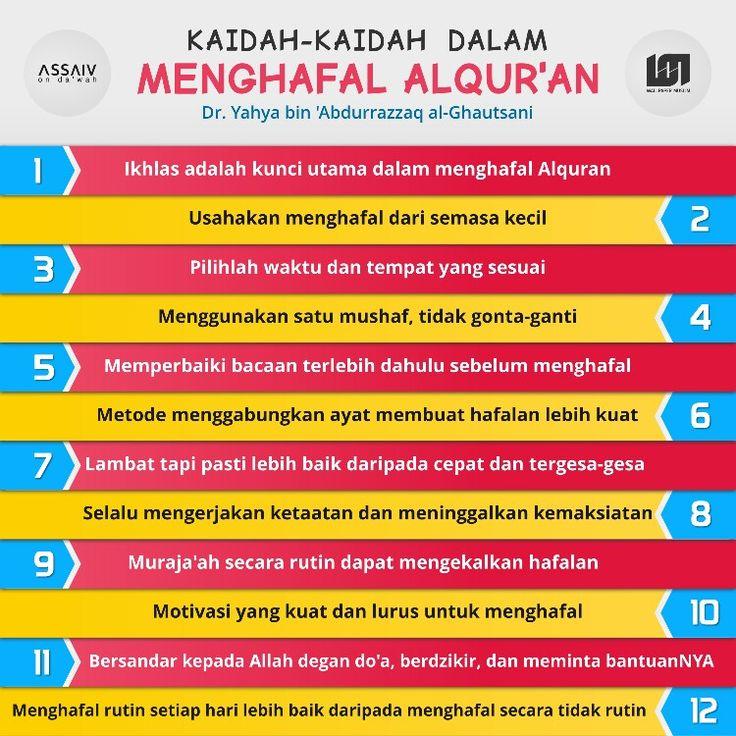 Kaidah-kaidah dalam menghafal Al-Quran. #QuranMemorizationTips