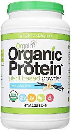 Orgain Organic Protein Plant-Based Powder, Vanilla Bean, 2.03 Pound, http://www.amazon.com/dp/B00J074W7Q/ref=cm_sw_r_pi_awdm_nP1twb9CE6ECD