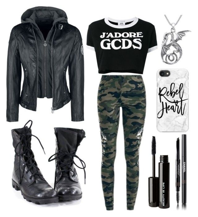 """""""outfit"""" by kwharmony on Polyvore featuring GCDS, Carolina Glamour Collection, Beauty Is Life, Casetify and Chanel"""
