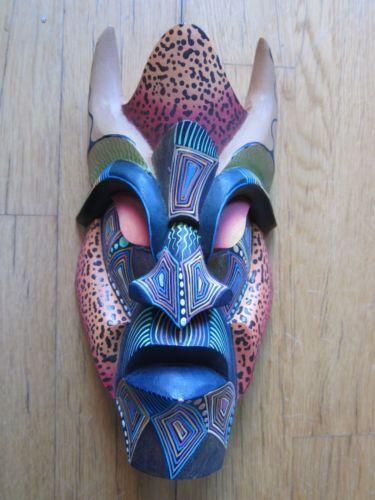 Costa Rica Boruca Brunka Mask Folk Art | eBay