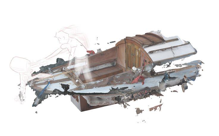 A 3d-model and drawing of a Utzon Spidsgatter, Jalte Windum (www.jaltewindum.com).