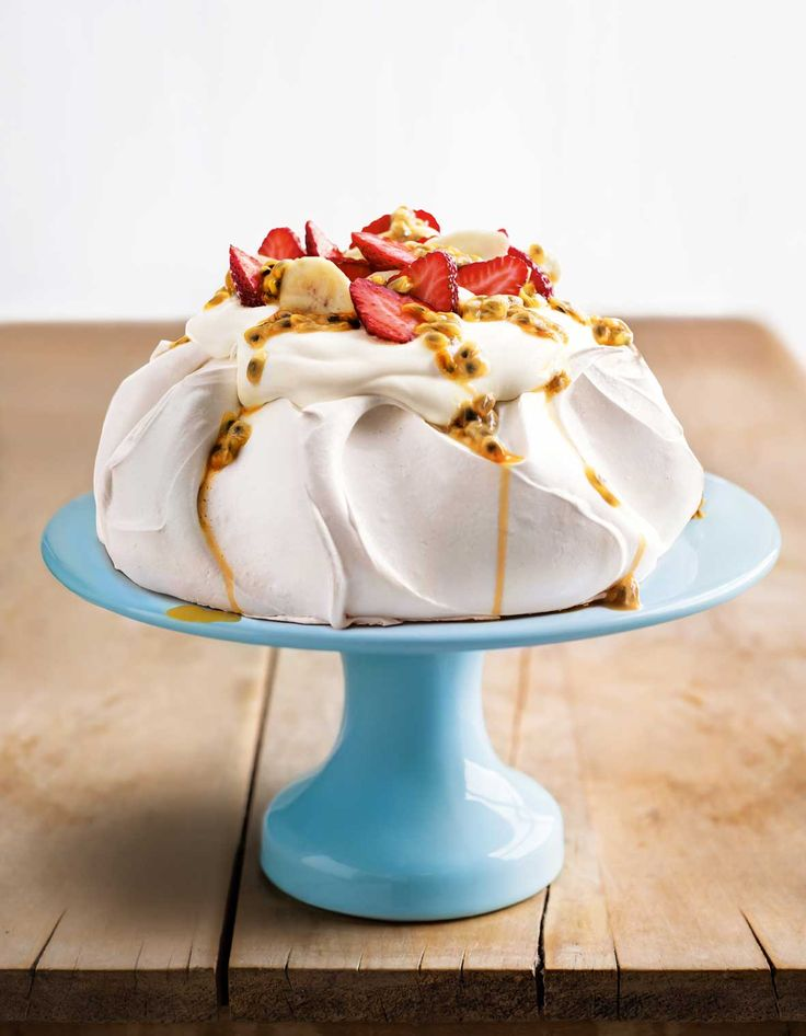 Donna Hay's Perfect Pavlova ... is a meringue-based dessert named after the Russian ballet dancer Anna Pavlova with a crisp crust and soft, light inside topped with fresh fruit.
