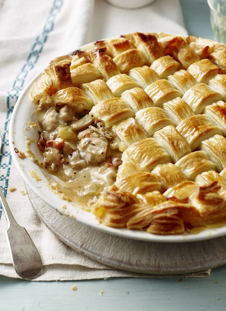 A chicken pie with its Sunday hat on - Mary Berry makes it easy.