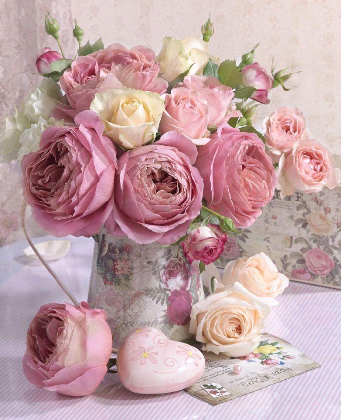 открытки с роза пионами с днем рождения