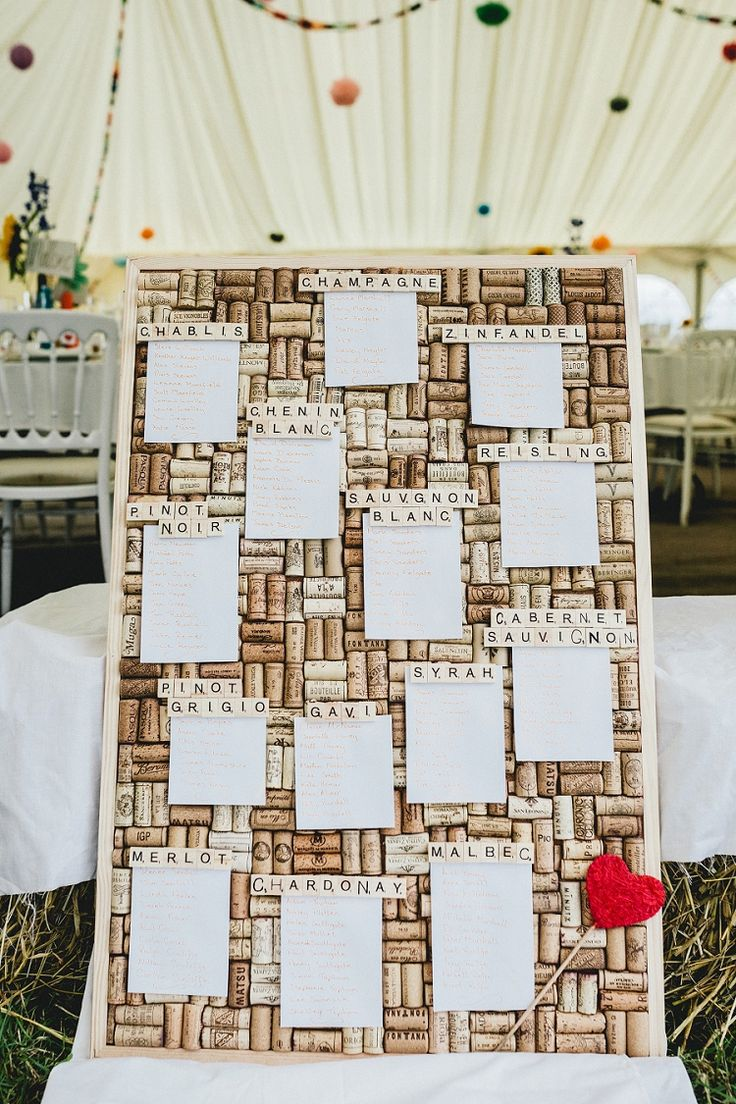 Cork Seating Plan Table Chart Drink Names All Things Big Bright Beautiful Multicolour Wedding http://benjaminmathers.co.uk/