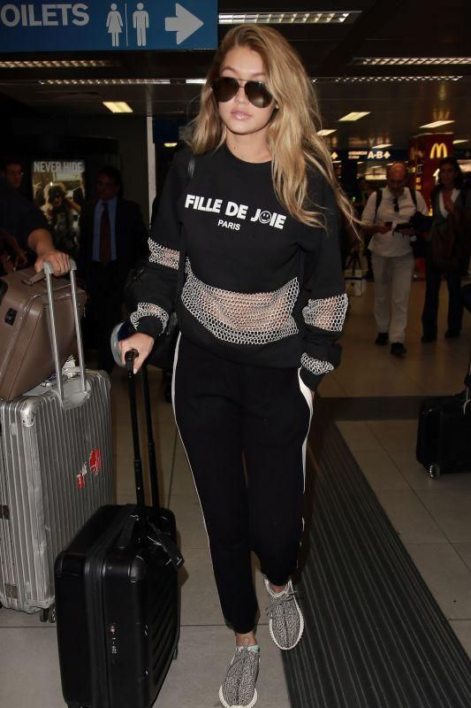 Gigi Hadid Milano Linate Airport September 26 2015