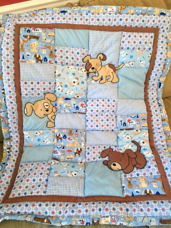 Any baby will enjoy snuggling up with the adorable baby quilt made of 100% cotton fabric and 80/20 cotton batting. Machine quilted and appliqued. Machine wash and dry. Custom orders available.