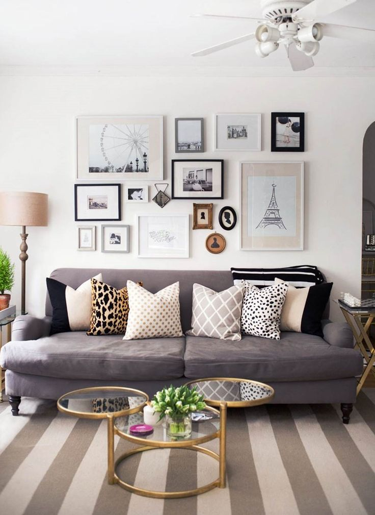 4 seater Dark grey couch | A cosy and full of light space living room with a confortable couch great for relaxing moments | more inspiring images at http://diningandlivingroom.com/