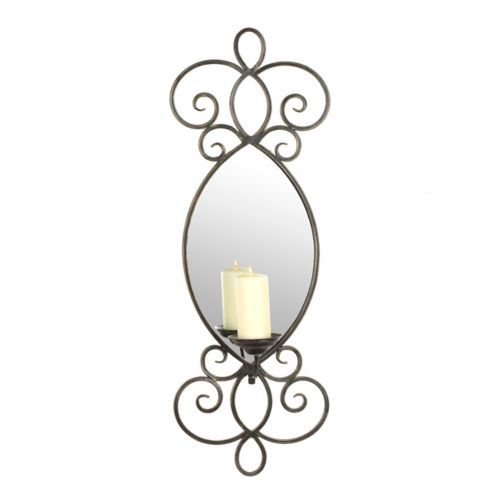 Wall Sconces Kirklands: Mirrored Metal Scroll Sconce