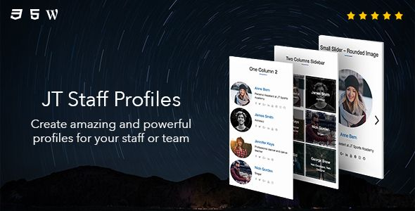 JT Staff Profiles - Create amazing and powerful profiles for your staff or team.