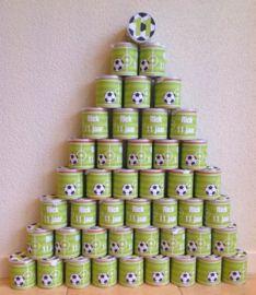 Voetbal Mini Pringles Wikkels