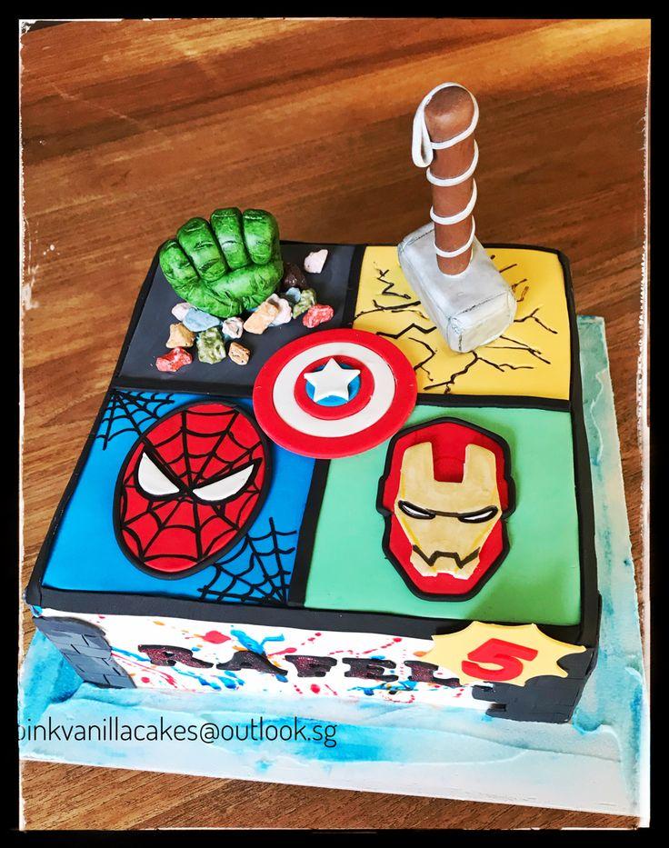 Avengers cake in 2020 captain america birthday cake