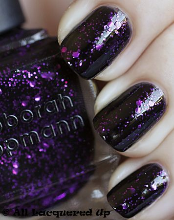 "lippmann ""bad romance"" - black jelly base with magenta small & hex glitter"