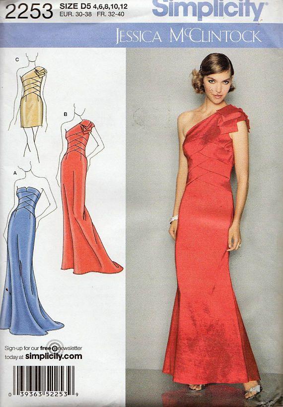 Simplicidad 2253 / costura patrón por Jessica McClintock