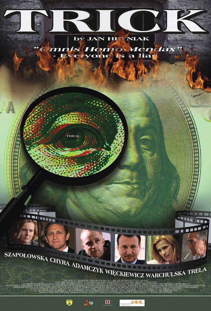 """Plakat do filmu """"Trick"""" Jana Hryniaka. Projekt: Studio Zakład, www.zaklad.pl"""