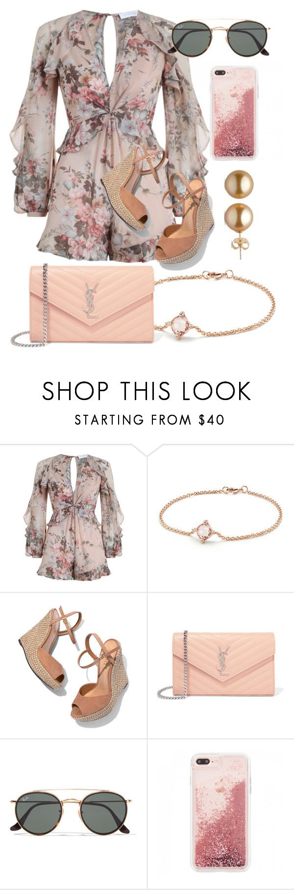 """What Should I Wear Today?"" by madisoncorell ❤ liked on Polyvore featuring Zimmermann, David Yurman, Schutz, Yves Saint Laurent and Ray-Ban"