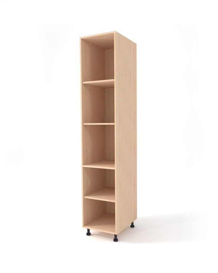 Main floor high cabinet with multiple features. Combined with one / two hinged doors. Depending on its use it can be upgraded with different mechanisms or other accessories. Easy to mount. Manufactured from 18mm thick melamine, the visible signs bear ABS trims and is pre-punched for a variable shelves height.
