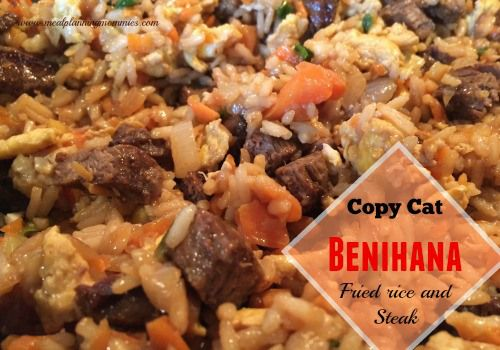 Benihana steak and fried rice! This seriously tastes SO good! This is a really popular recipe on our site.