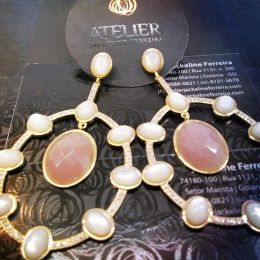 Brinco, Atelier Jackeline Ferreira, Folheados e Associados, Mostra são Paulo - fabrica de semi joias
