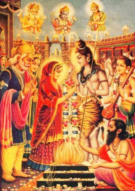 Lord Śiva remarried Sati as Parvati.