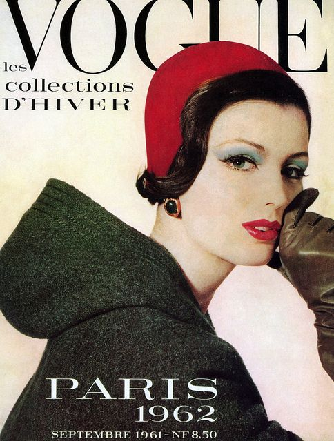 Dorothea McGowan in Christian Dior couture. Vogue Paris cover by Irving Penn, September 1961.