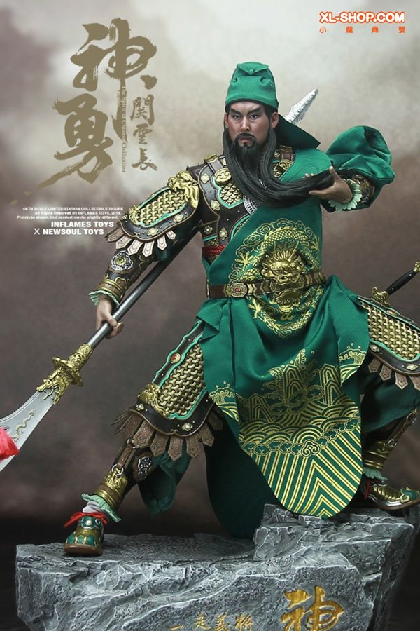Inflames Toys X Newsoul Toys - The spirit of Chinese civilization - 1/6 GUAN YU Action Figure (Ship Q4 2014)