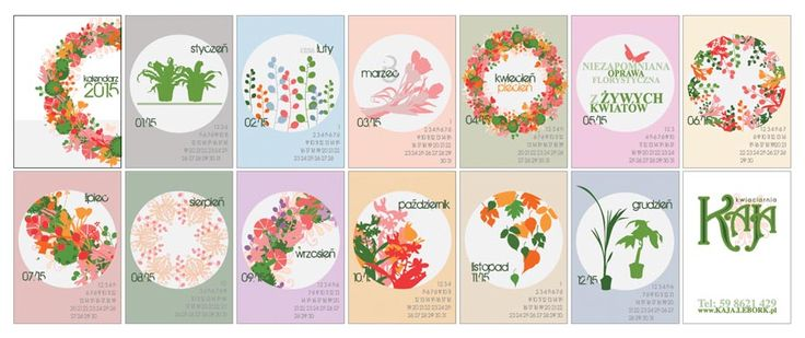 Here's a free printable 2015 calendar for all of you who loves flowers and nature. You can download it from: http://www.kaja.lebork.pl/KAJA-Kalendarz-2015.html and print it for you or your friends!