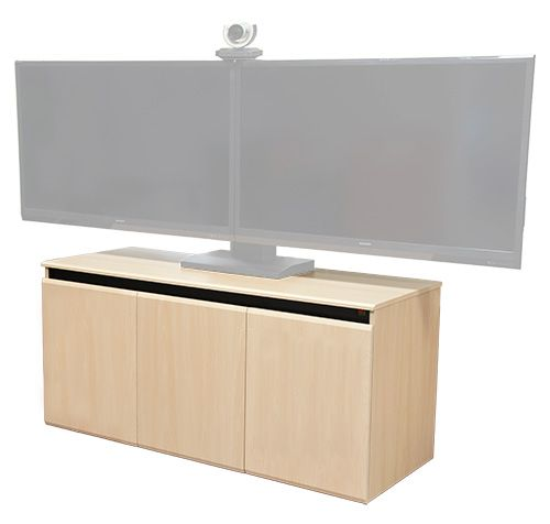 CR3000EX is a minimalist design tech-credenza designed for business conference room environments. Featuring three rack bays with twelve rack spaces each and a dedicated heat exhaust fan per bay. Innovative hidden lock design allows for a seamless look while still providing security for your electronics. Scratch resistant thermal wrap surfaces offered in many color options. Mobility provided by four inch heavy duty ball bearing casters with non marking rubber wheels.