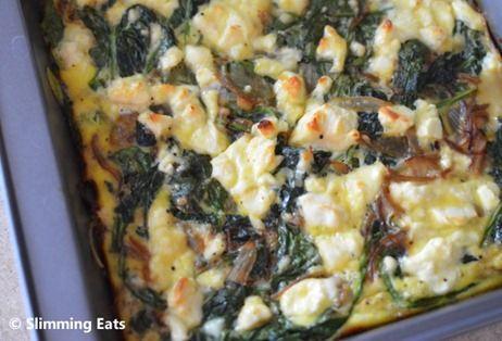 Spinach and Feta Frittata | Slimming Eats - Slimming World Recipes