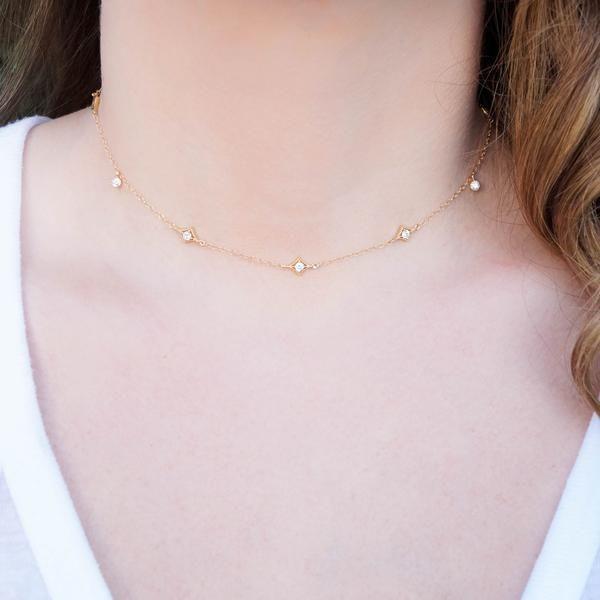 The Annabelle Dainty Gold Choker is so chic & delicate! https://www.wanderandlustjewelry.com/products/the-annabelle-dainty-gold-choker