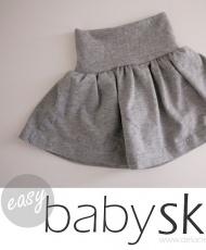 Children: Easy baby skirt. Free pattern