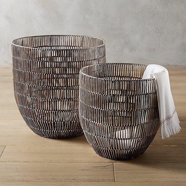 25 Best Ideas About Metal Baskets On Pinterest Baskets