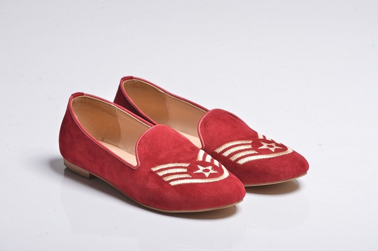 Red Sergeant Velvet Slippers