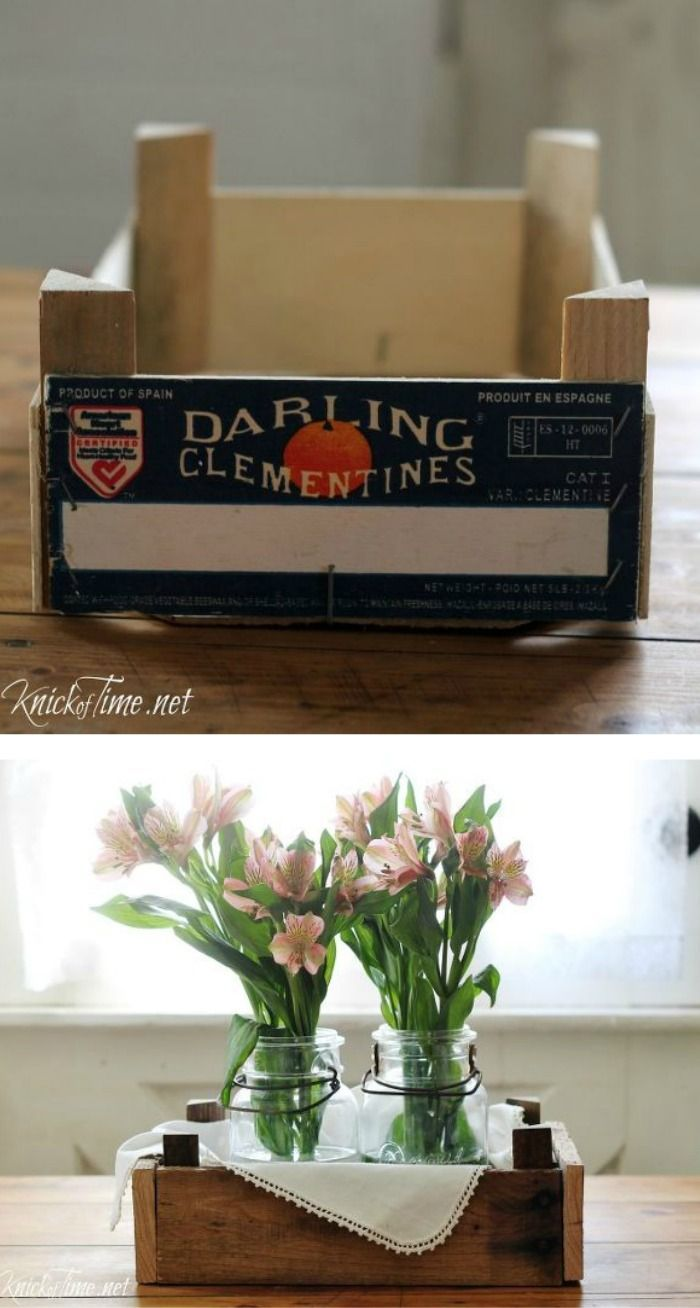 Upcycled clementine orange box ~ such a great idea!