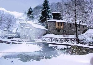 The snow has fallen. Metsovo village, Hepirus, Greece