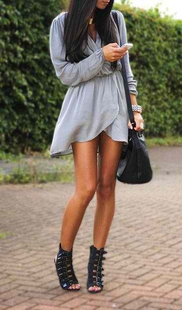 LoLoBu - Las mujeres miran, Moda y Estilo de ideas e inspiración, el vestido y la falda de Look