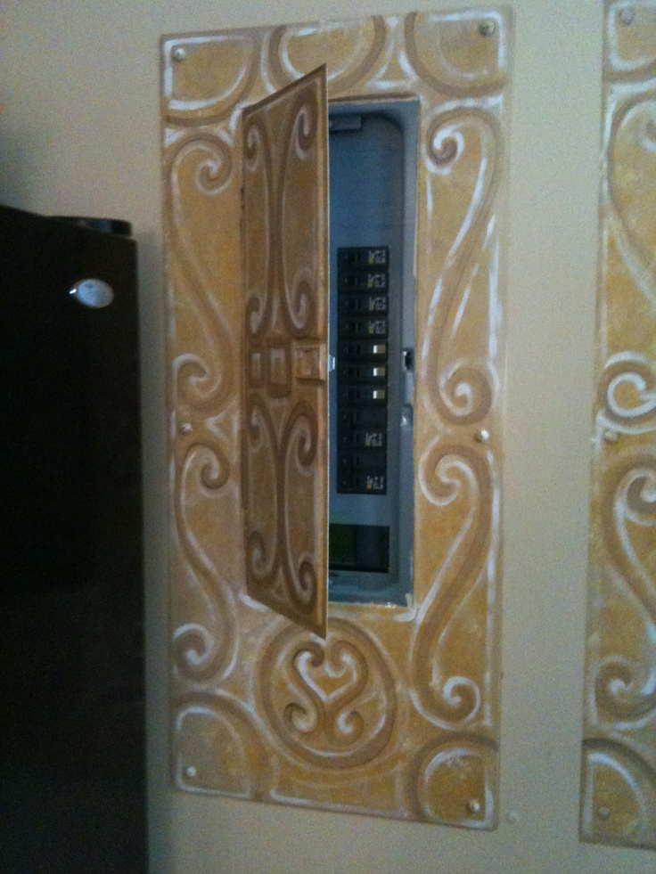 Fuse box covers for decorative home fan blade