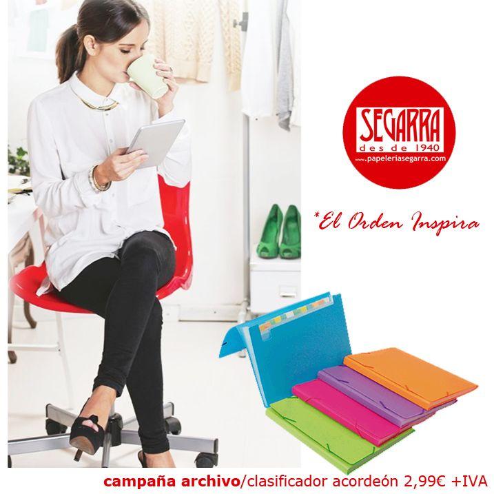 clasificador acordeon colores material de oficina http://papeleria-segarra.blogspot.com.es/2016/01/archivo-el-orden-inspira.html