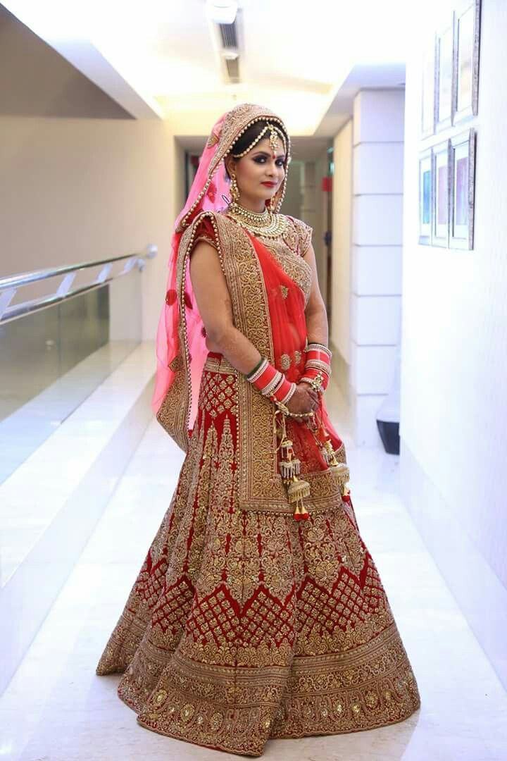 wed me good  bridal lehenga red indian bridal dress