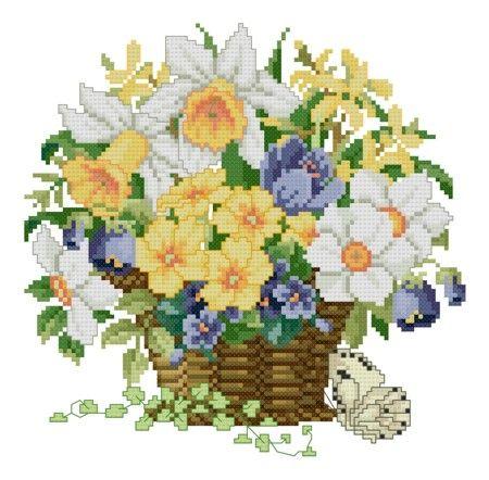 """Flowerbasket """"Spring"""" by Ellen Maurer-Stroh"""