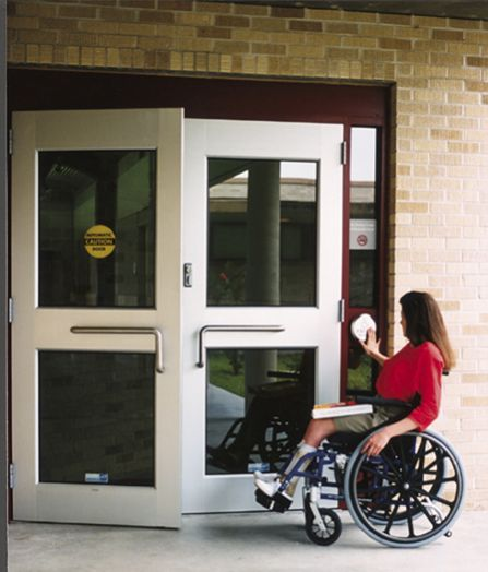 Electric swing handicap door . suit for disabled person when leave them alone in home. The door can be openen by press button, remote controller or body sensor. https://www.autodoorleader.com/3.html